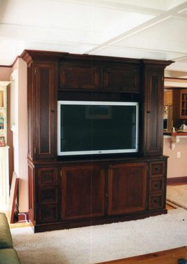 Custom Made Mahogany Entertainment Center