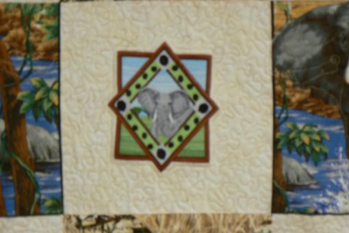 Custom Made Custom Made Photo And Embroidery Custom Elephant Quilt