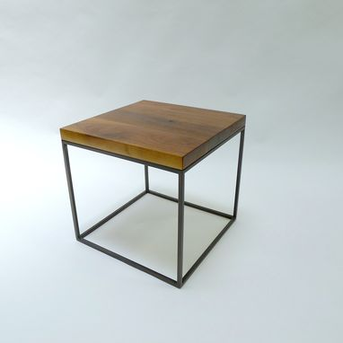 Custom Made End Tables Solid Walnut And Blackened Steel