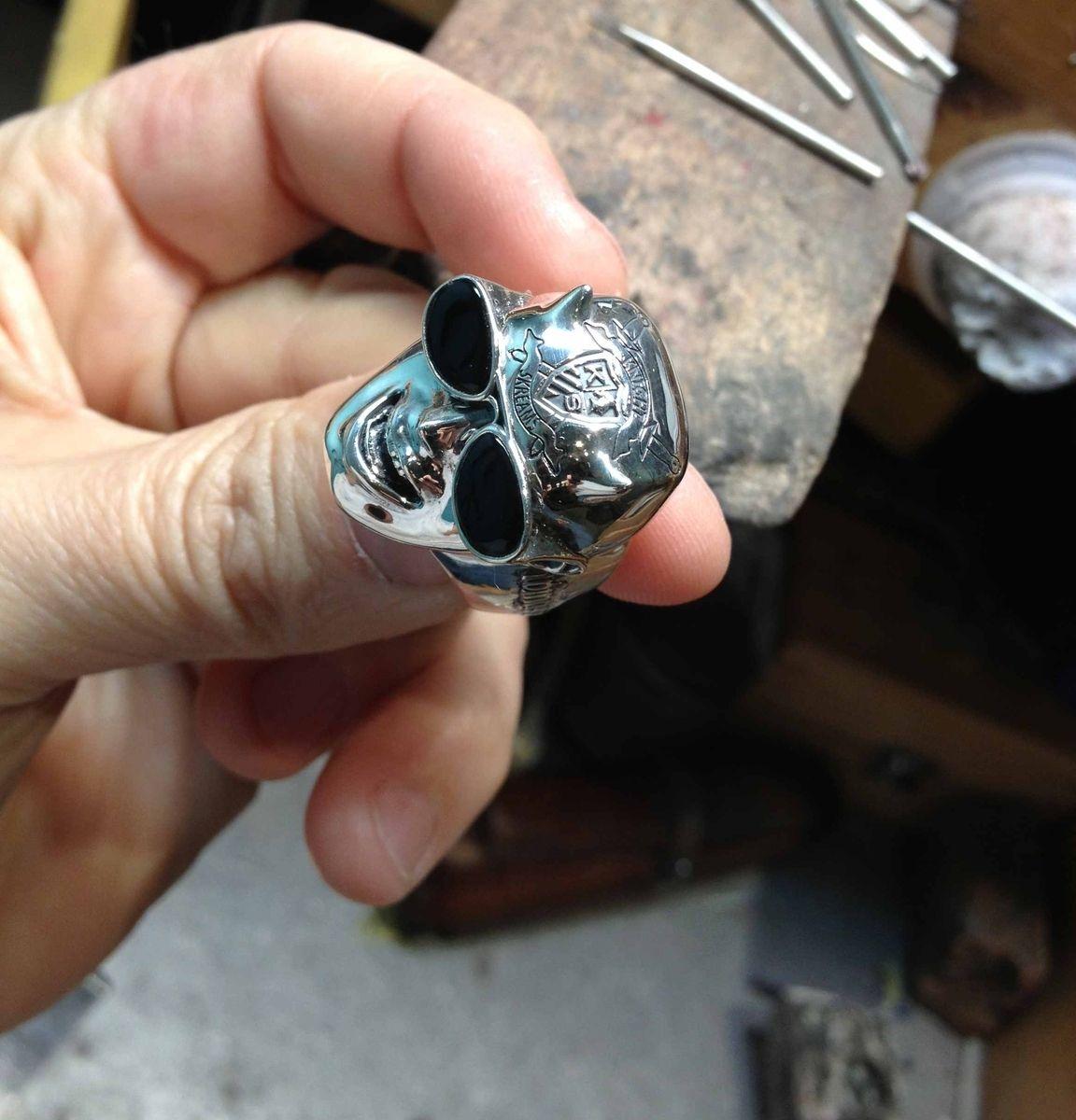 3d Printed Screaming Face Ring Human Face Ring 3d printed Jewellery Sterling Face Ring 3D Print Punk Ring Scream Ring Biker Ring