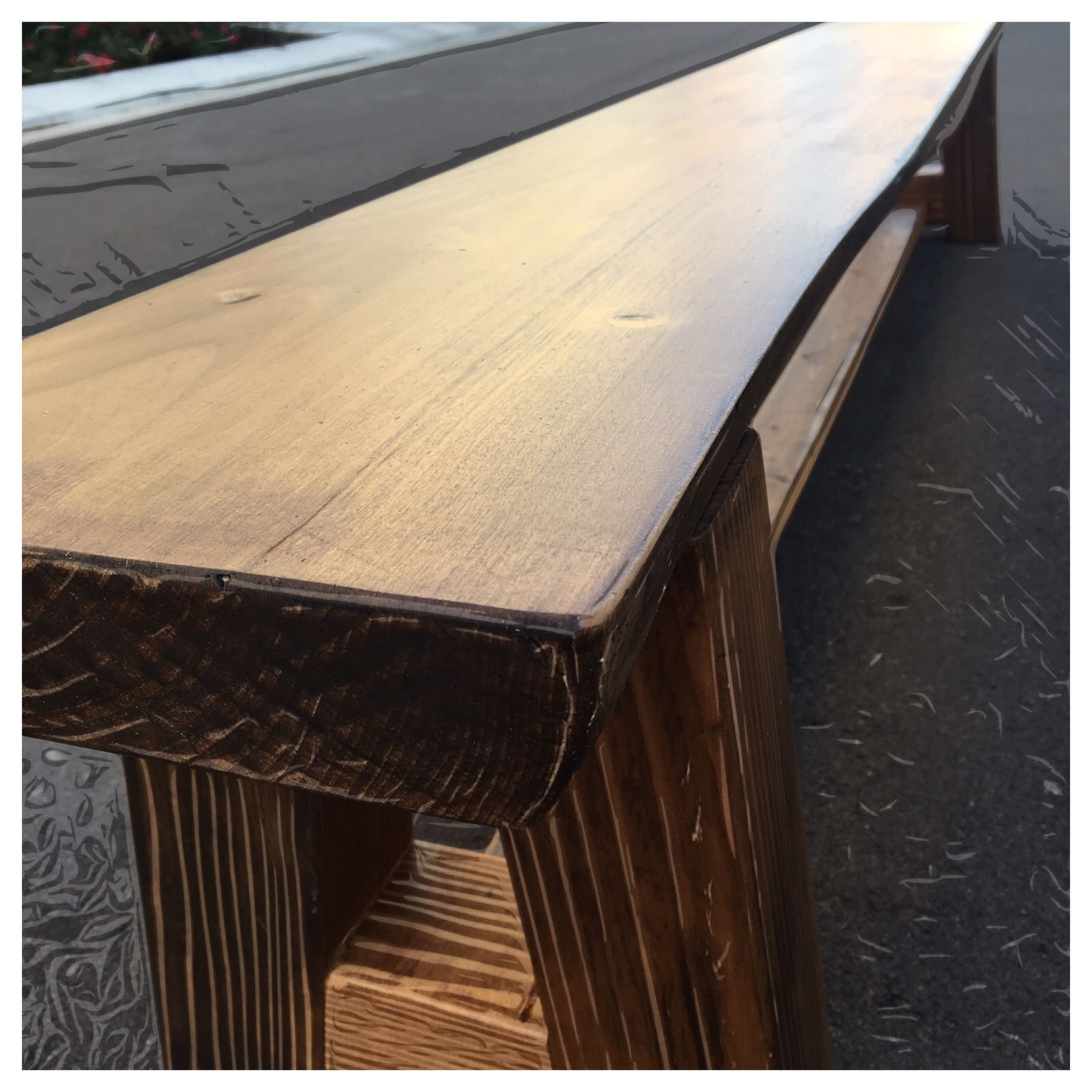 Unique Wood Benches: Custom Made Wood Bench By Pautek's Woodworking