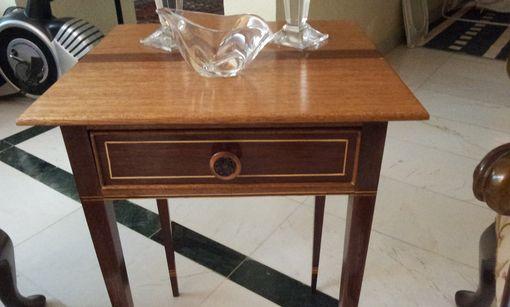 Custom Made Federal Style Side Table With Inlay