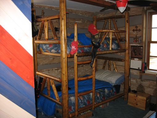 Custom Made Log Bunk Beds