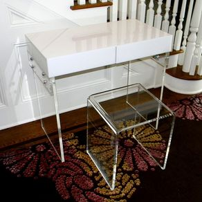 computer desk home table lucite stunning for with legs acrylic and elegant also glass dining office furniture