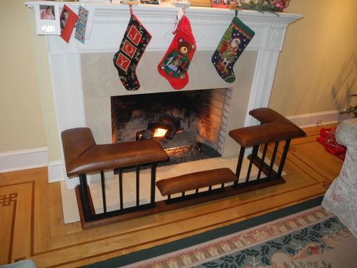 Custom Made Old English Fireplace Bench - 'Cut' Bench Model