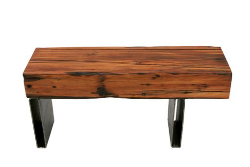 Custom Made Rustic Modern Repurposed Bench