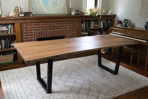 "Custom Made ""Old Ohio"" Elm Wood Slab Dining Table"