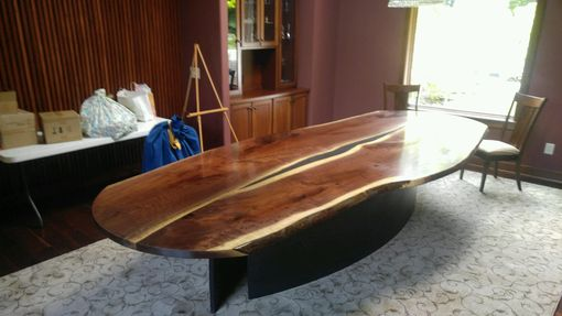 Custom Made Reverse Book Matched Walnut Dining Table