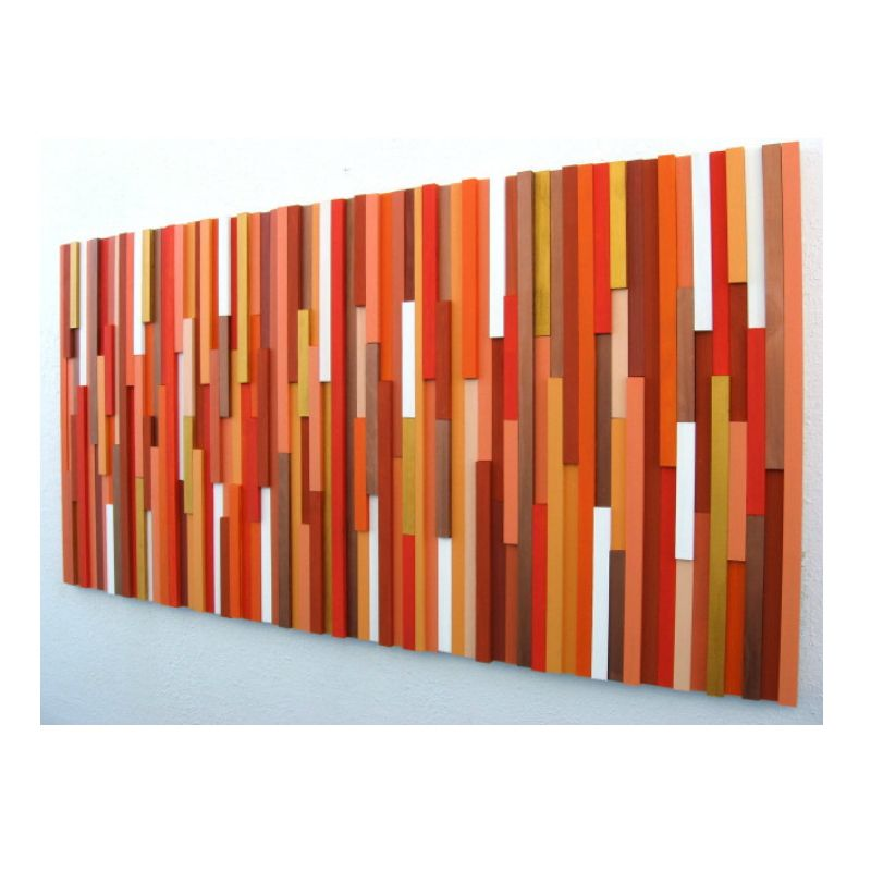 Buy A Hand Made Orange Wall Art Abstract Art Orange Wood