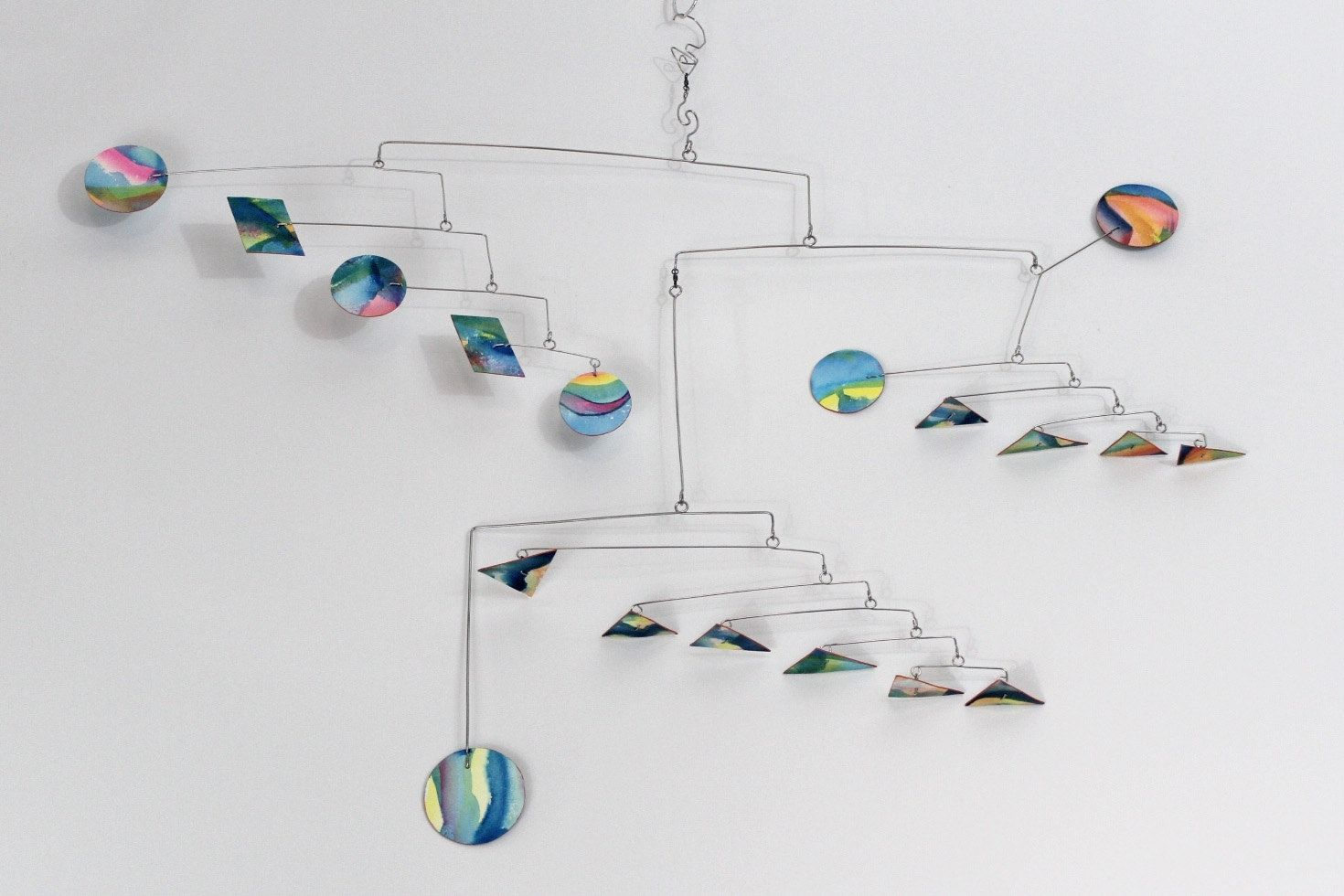 buy a hand crafted asteroids modern art mobile  calder inspired  - custom made asteroids modern art mobile  calder inspired