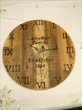 Custom Made Reclaimed Lumber Clock