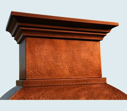 Custom Made Copper Range Hood With Corbels & Stack