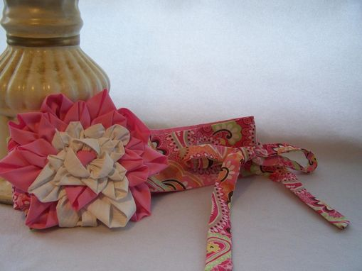 Custom Made Fashion Money Belt Pink Paisley