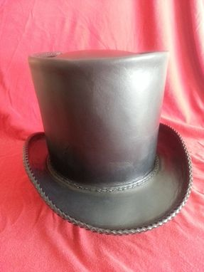 Custom Made Hand Made Leather Top Hat