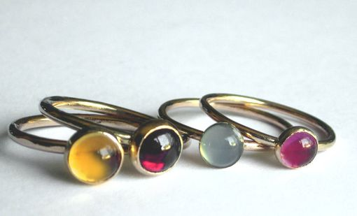 Custom Made Stacking Rings In Gold Plate
