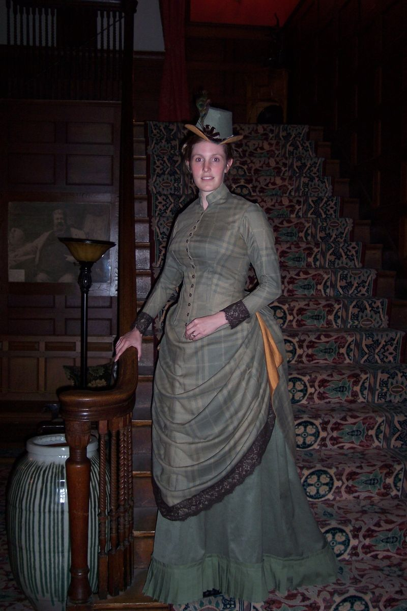 Custom Made Reproduction 1886 Victorian Day Dress By