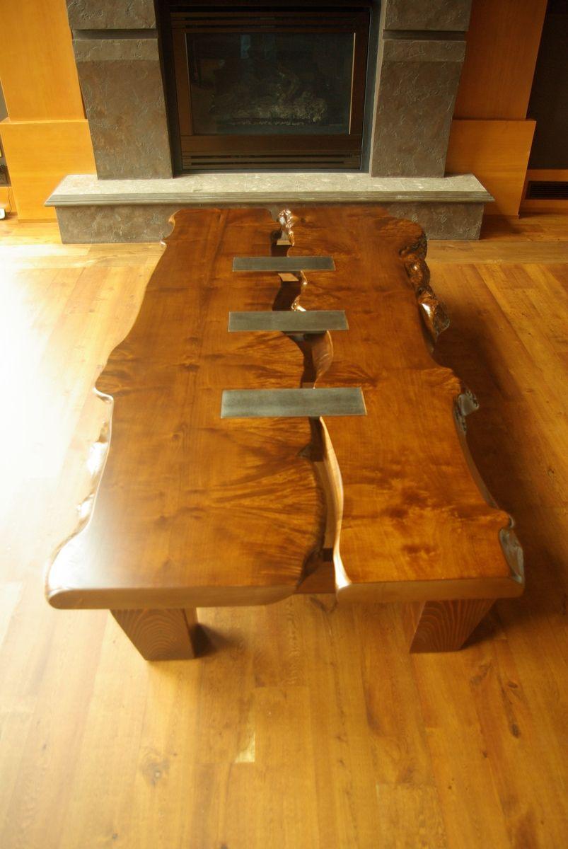 Custom Maple Live Edge Coffee Table By Jay Holbrook