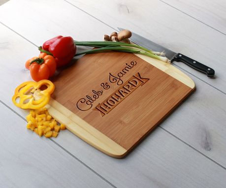 Custom Made Personalized Cutting Board, Engraved Cutting Board, Custom Wedding Gift – Cb-Bam-Howard