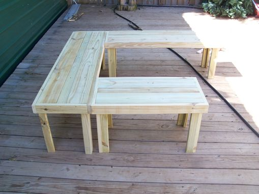Custom Made U-Shaped Handmade Benches