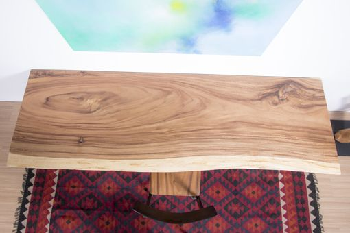 Custom Made Live Edge Wood Slab Table - Ideal For Home Office / Kitchen Counter Top