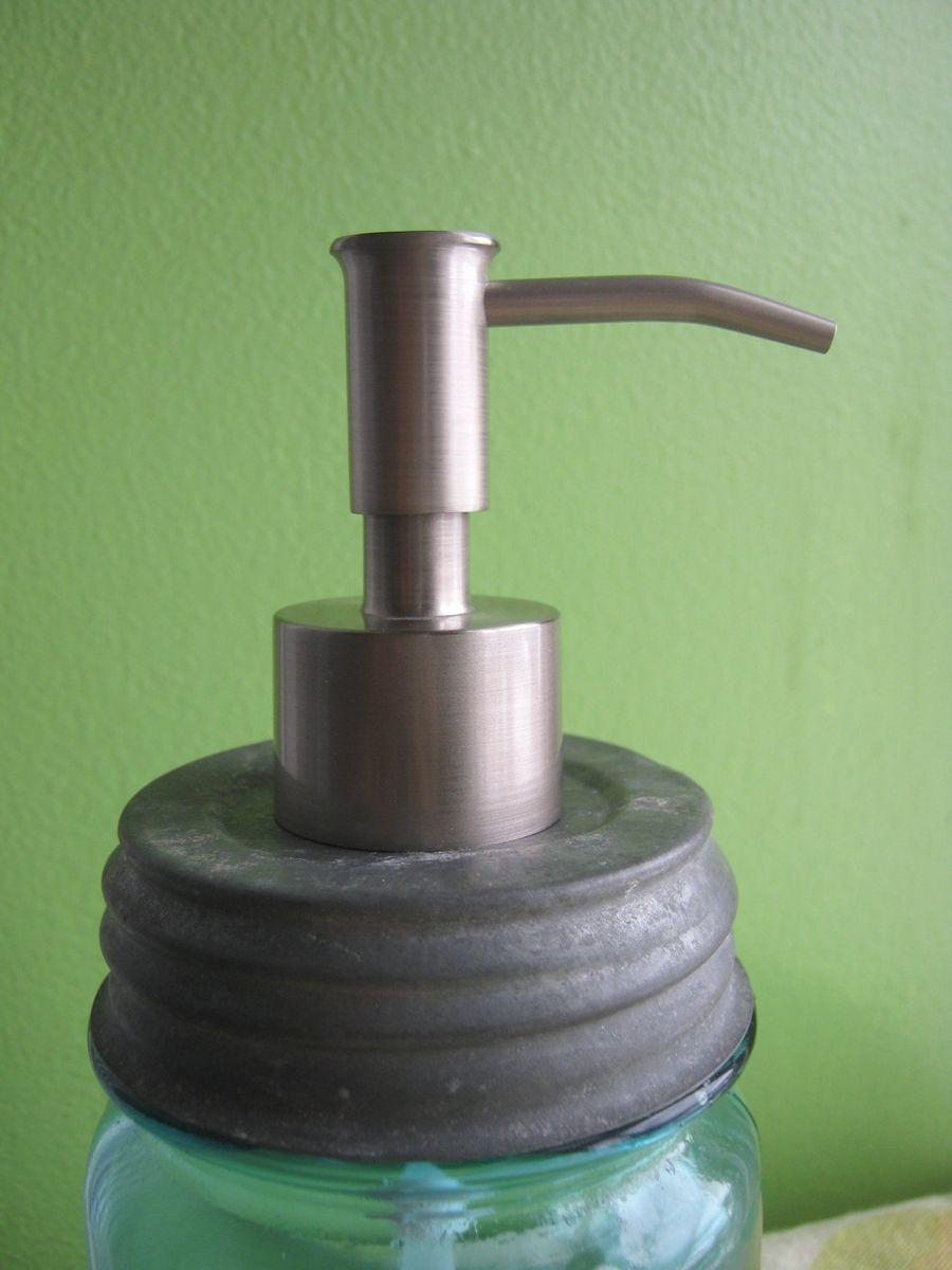 Custom Mason Jar Soap Dispenser Lid With Stainless Steel