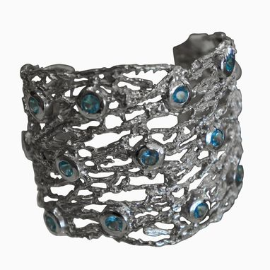 Custom Made Silver Whisper Cuff