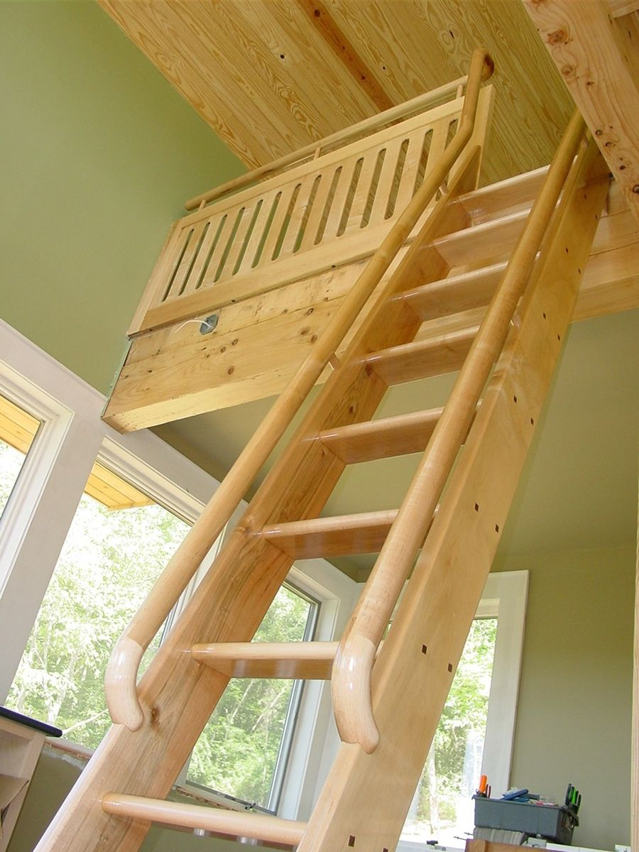 Hand Made Ship Ladder And Railing By Alward Woodworking