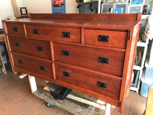 Custom Made Mission Style 7 Drawer Dresser / Cherry