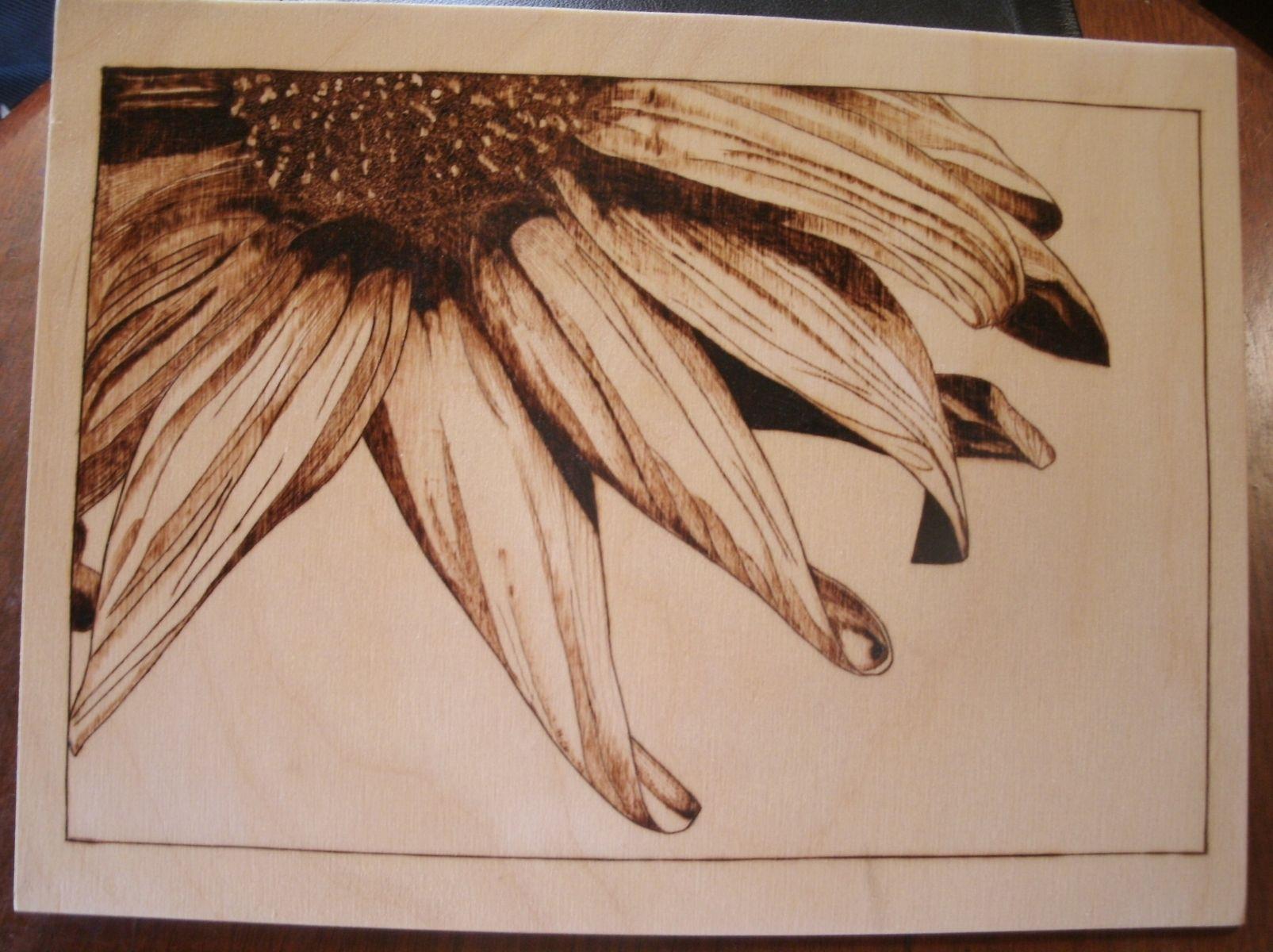 Sunflower Wood Burning Patterns