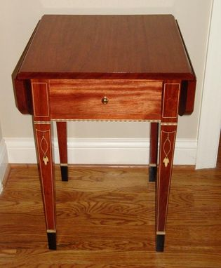Custom Made Bubinga Pembroke Drop Leaf Table