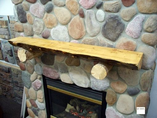 Custom Made Rustic Log Mantle