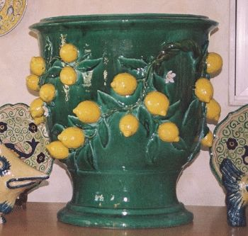 Custom Made Dolfi Lemon Planter