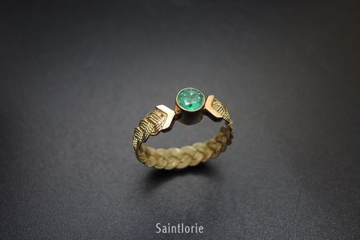 Custom Made 0.3 Carat Emerald Ring