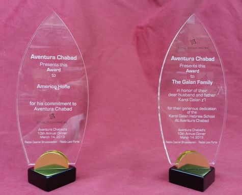 Custom Made Custom Acrylic Awards