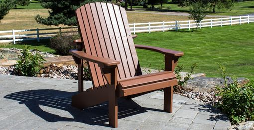 Custom Made White Oak Painted Adirondack Chair