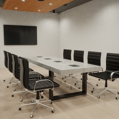 Custom Made Concrete Conference Room / Board Room Table