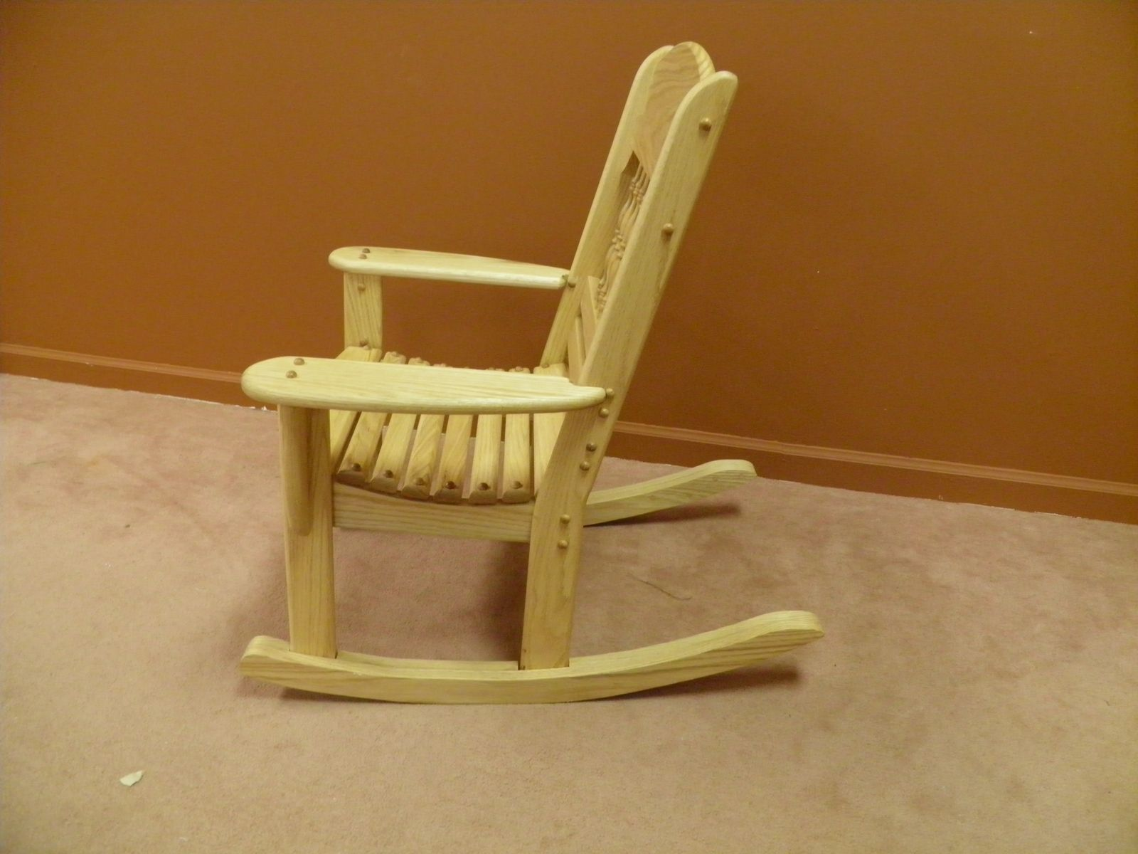 Hand made childrens rocking chair by windy woods for Rocking chair design plans