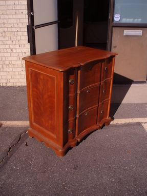 Custom Made Solid Cherry Serpentine Chest Of Drawers