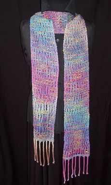 Custom Made Handwoven Hand Painted Scarf