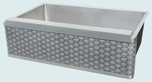 Custom Made Stainless Sink With Woven Zinc Apron
