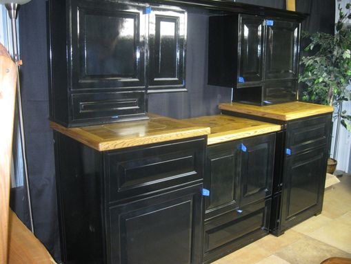 Custom Made Black Cabinet / Buffet Unit