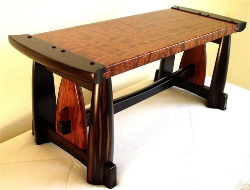 Custom Made Figured Bubinga & Ebony Bench