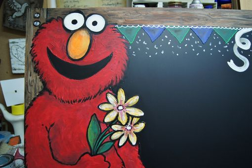 Custom Made Child's Playroom Character Personalized Chalkboard