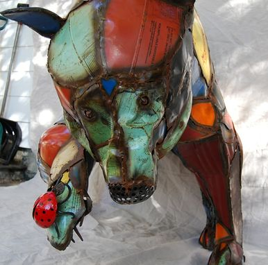 Custom Made Found Object Bear Sculpture