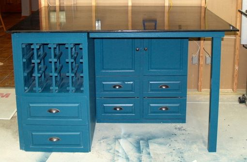 Custom Made Art Deco Kitchen Island