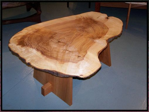 Custom Made Mountain Ash Burl On Cherry Trestle Frame