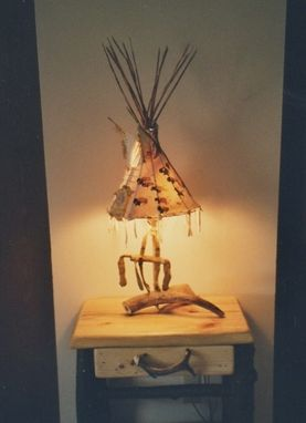 Custom Made Handpainted Tipi Lamps