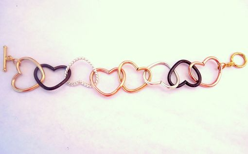 Custom Made Heart Link Bracelet