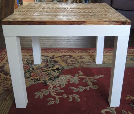 Custom Made Super Modern Table Turns Into A Stenciled Beauty