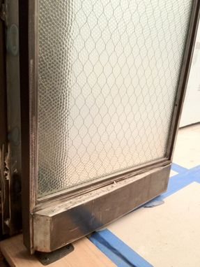 Custom Made Steel Doors With Antique Glass